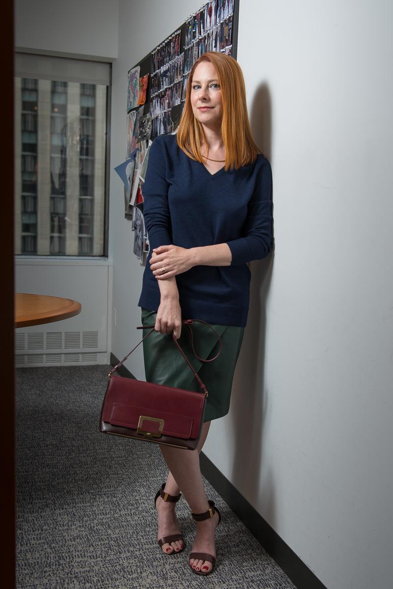 Roger Vivier Color block Shoulder Bag $2,619 via Luisa Via Roma, Reiss Sweater Similar via Reiss, Jenni Kane Skirt Similar via Shopbop, Céline Shoes
