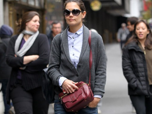 Katie Holmes carries Derek Lam while out and about in New York