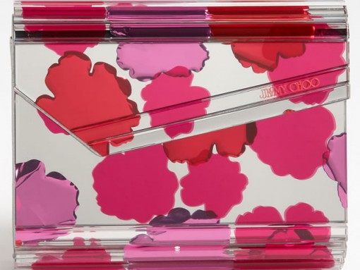 Channel Spring with the Jimmy Choo Candy Floral Clutch