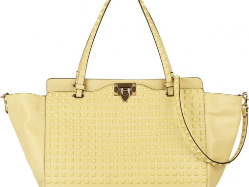 Valentino's Rockstud bags go tonal for spring