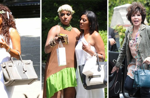 Celebs Carried Some Great Bags to Kim Kardashian's Baby Shower