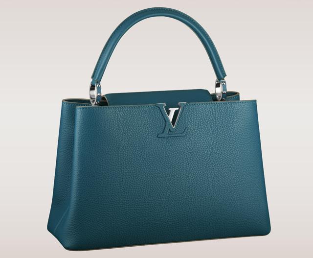 Louis Vuitton Capucines Bag Blue