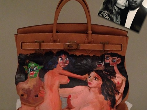 Kim Kardashian Gets a Custom Painted Hermès HAC Bag from Kanye West