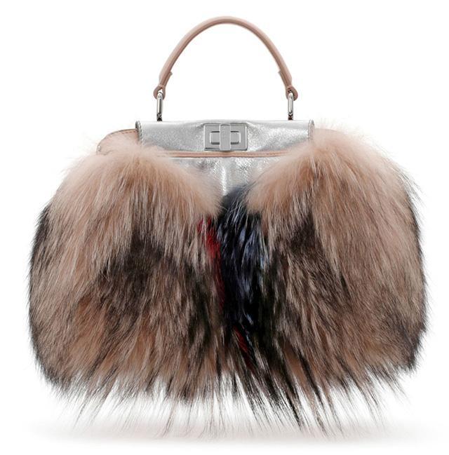 Fendi Peekaboo Mini Fur Satchel
