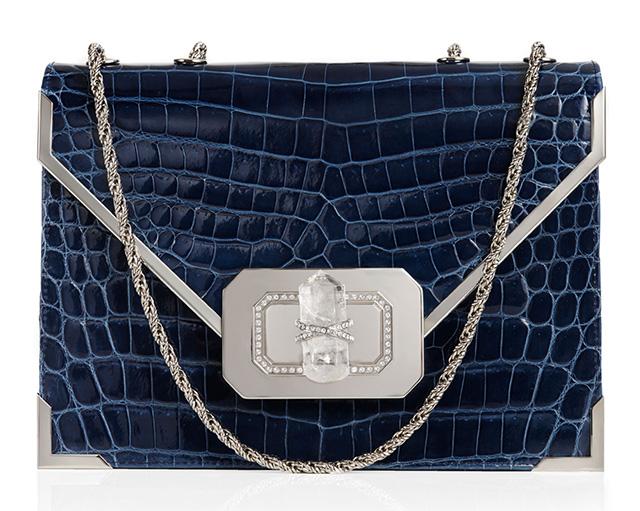 Marchesa Valentina Crocodile Shoulder Bag