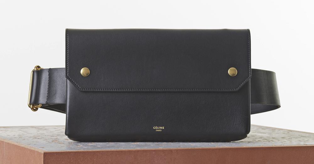 Celine Bum Bag Black Natural Calf 1900