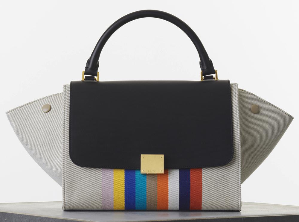 Celine Medium Textile Trapeze Bag 2300