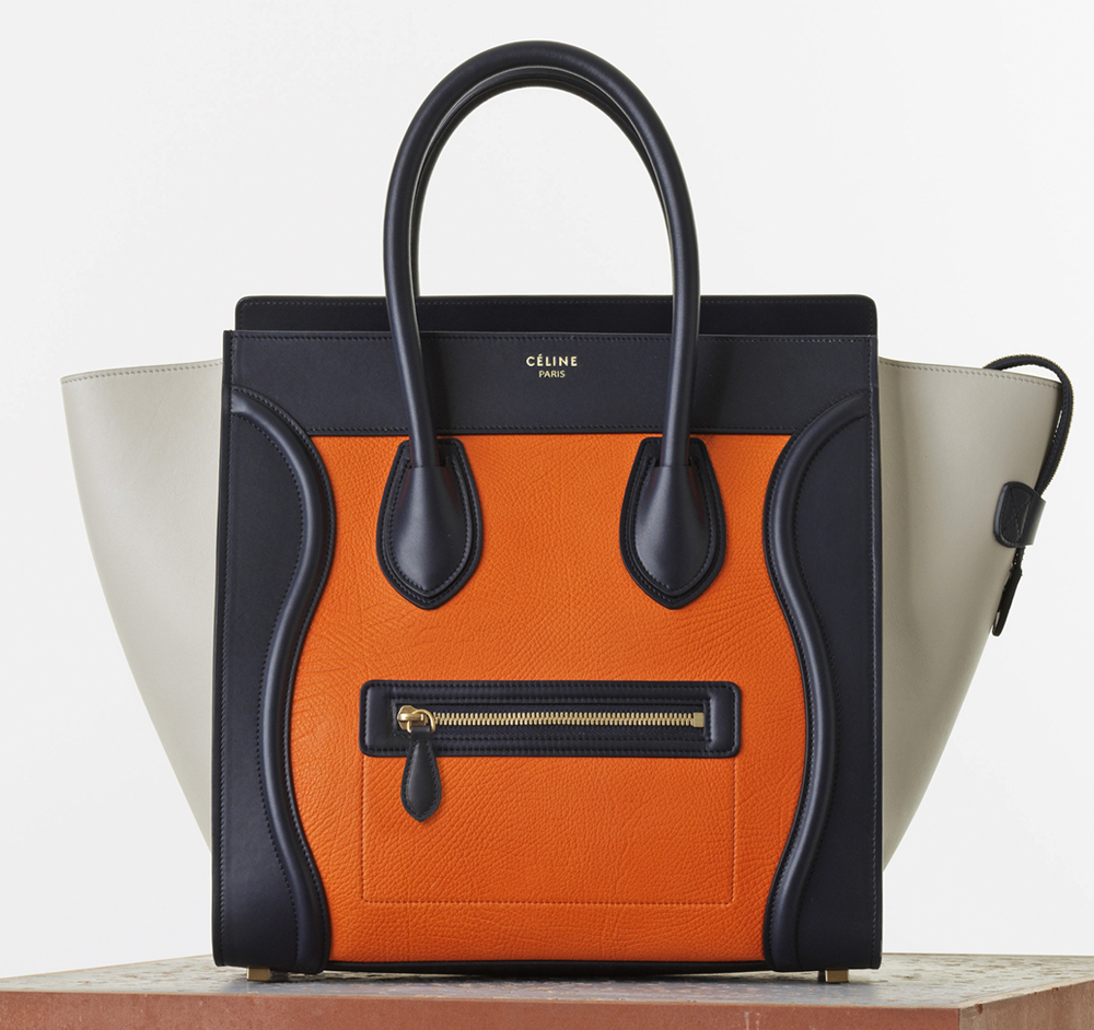 Celine Tricolor Luggage Tote