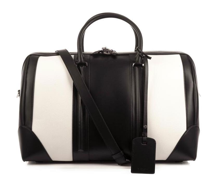Givenchy Bicolor Leather Weekender Bag