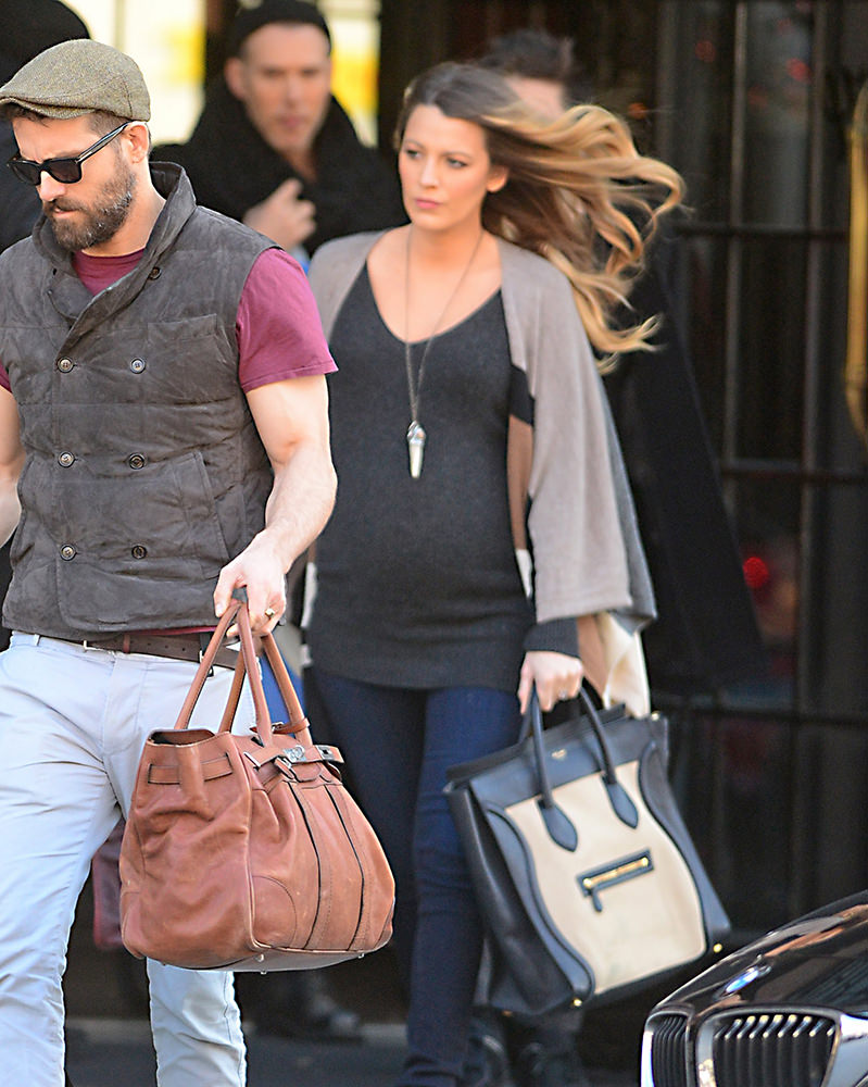 Pregnant Blake Lively and Ryan Reynolds check out of the Bowery Hotel in New York City