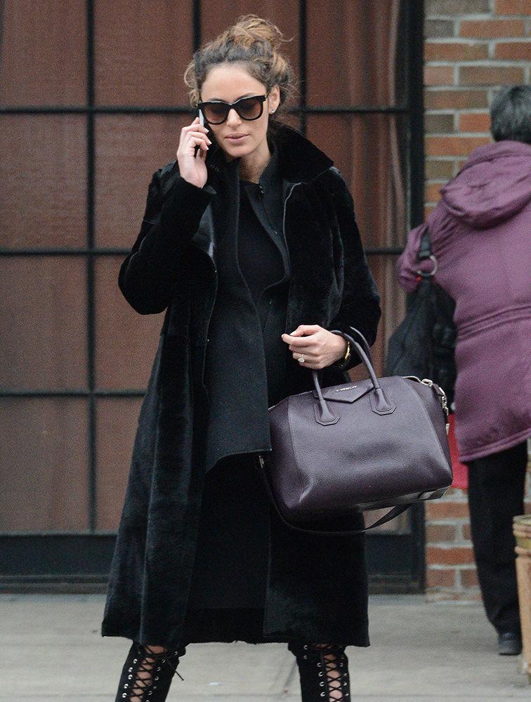 Nicole Trunfio leaves her hotel in New York