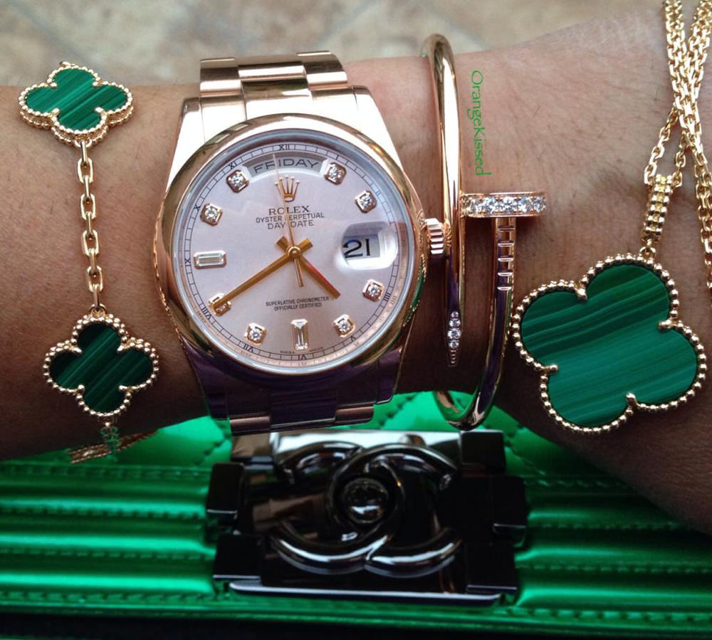 Rolex and Chanel Bag