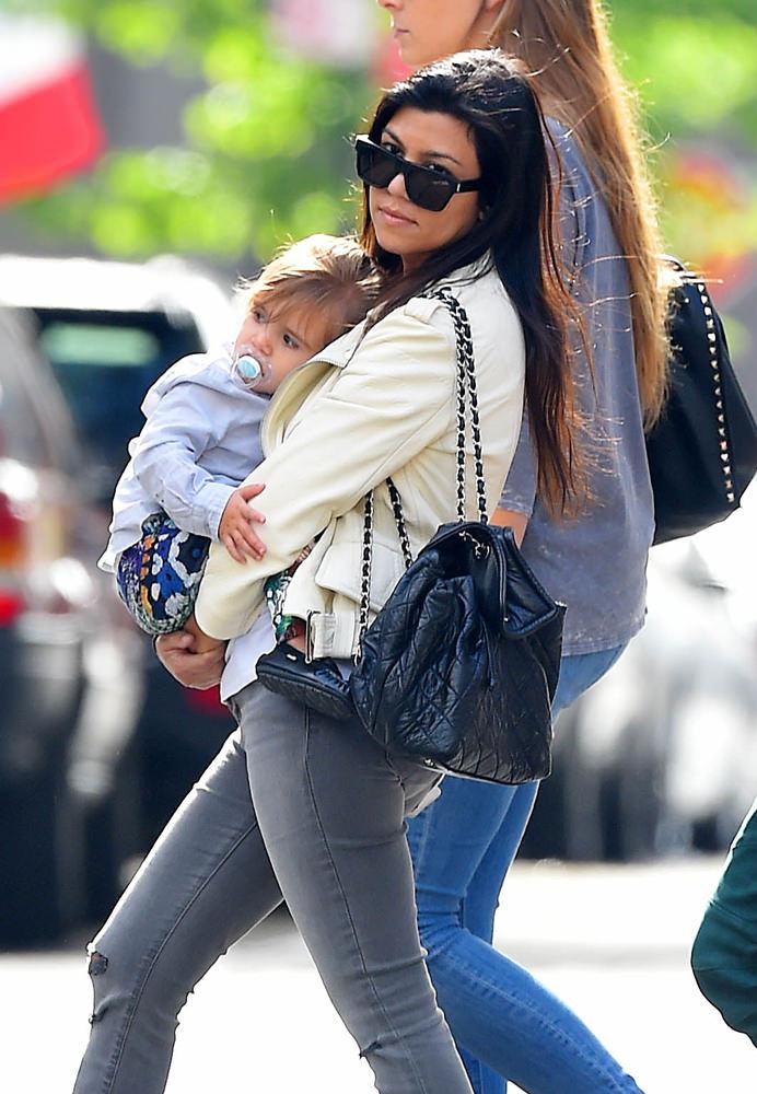 Kourtney Kardashian and Scott Disick take Penelope and Mason to Children's Museum of Arts in SoHo, NYC