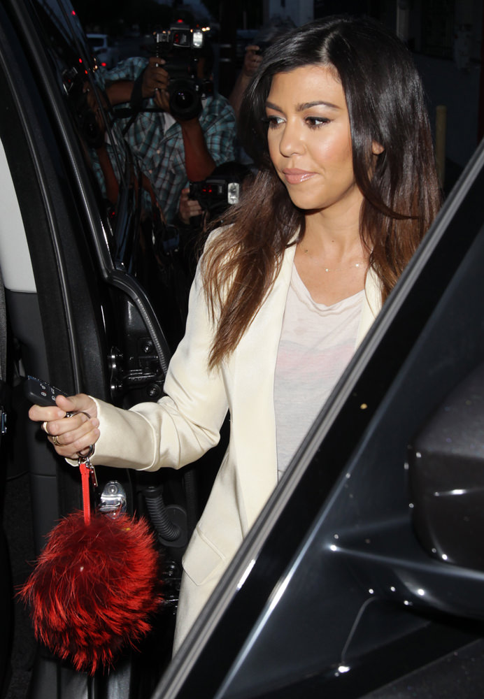 Kourtney Kardashian leaving the studio after filming 'Keeping Up With The Kardashians'