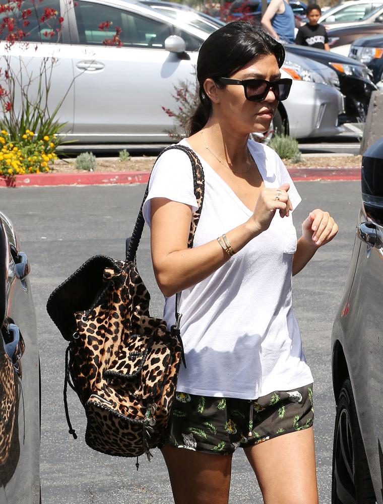 Kourtney Kardashian and Scott Disick take Mason and Penelope for breakfast in Calabasas