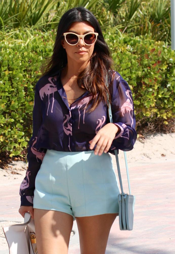 Kourtney Kardashian and Scott Disick spend the day at the beach in Miami