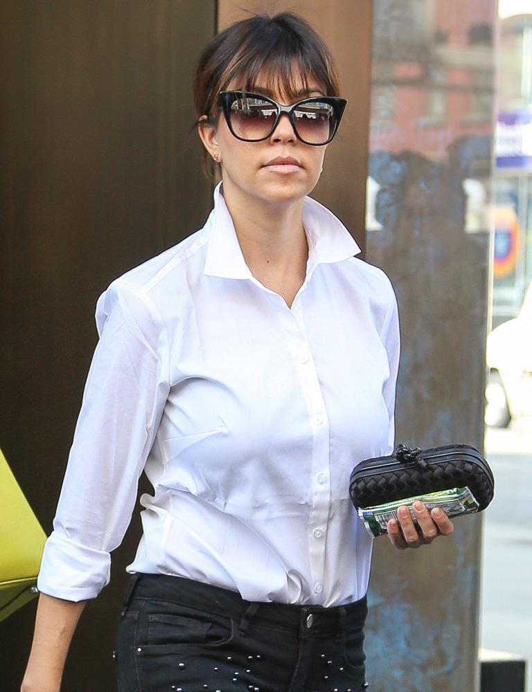 Kourtney Kardashian leaves her hotel in New York City