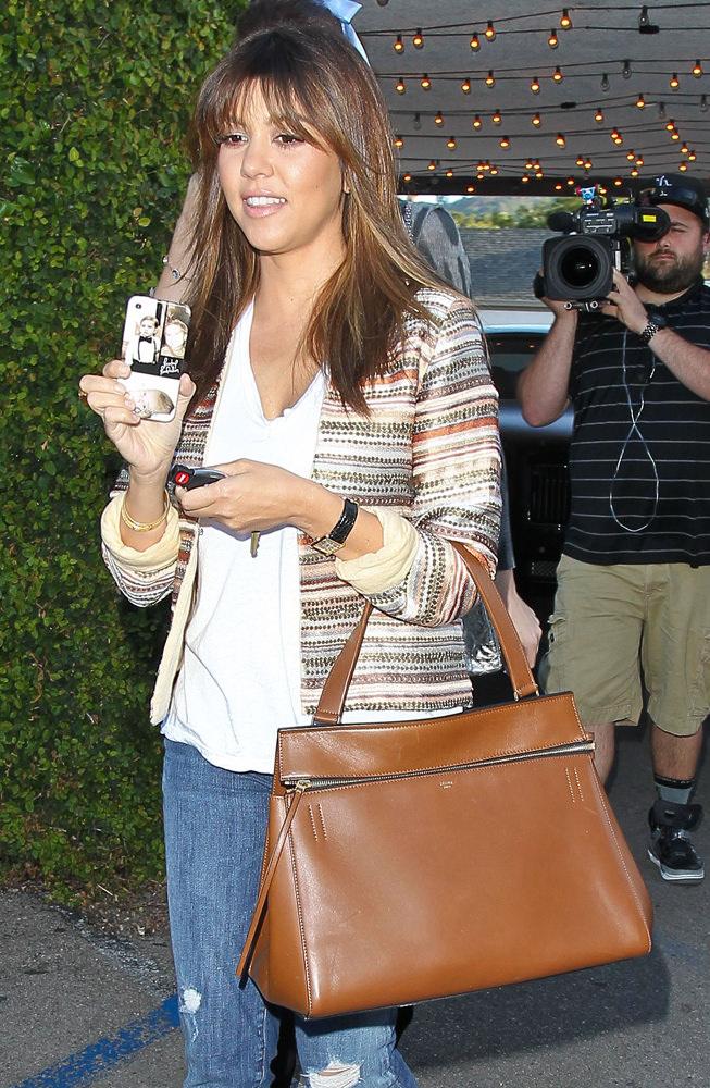 Kim, Kourtney and Khloe Kardashian leaving Casa Vega in Studio City