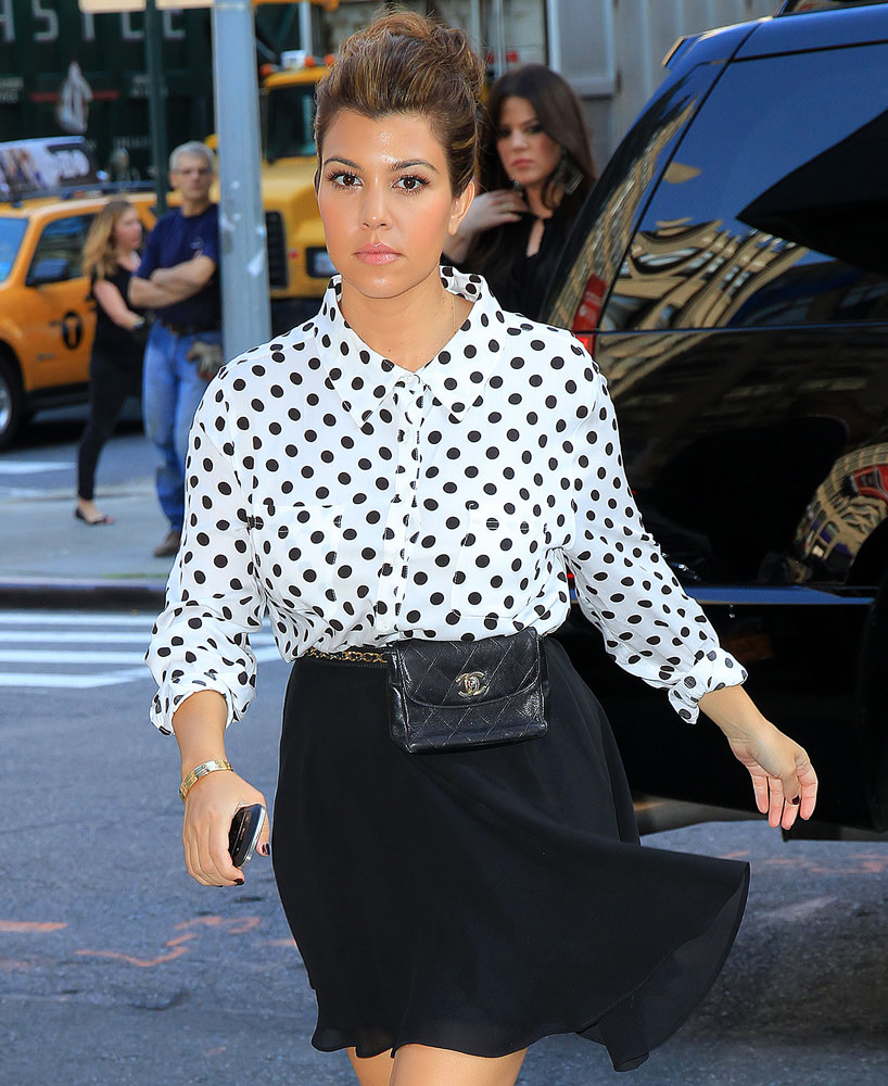 Kourtney Kardashian at 'Good Morning America' in NYC