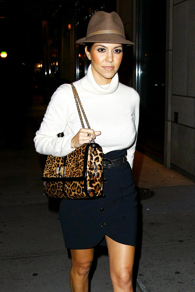 Kourtney Kardashian Takes A Walk Outside Her Hotel In NYC
