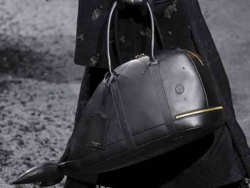 Man Bag Monday: Thom Browne's Dark, Funny Fall 2015 Collection