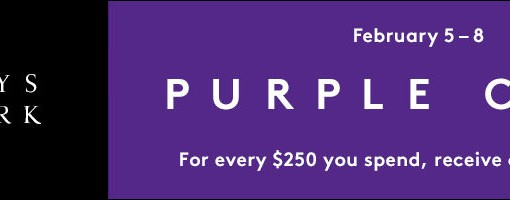 Earn a $25 Gift Card for Every $250 You Spend at the Barneys Purple Card Event