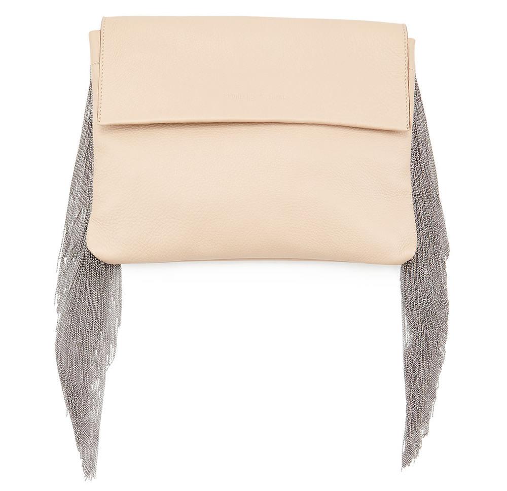Brunello Cucinelli Monili Small Fringe Clutch Bag