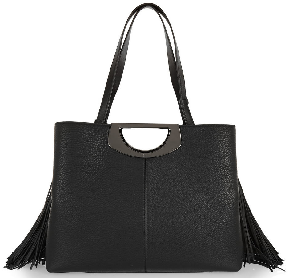 Christian Louboutin Passage Fringed Textured-Leather Tote