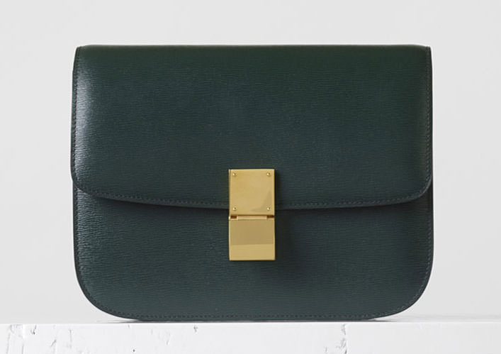 Celine-Medium-Classic-Box-Bag-Dark-Green