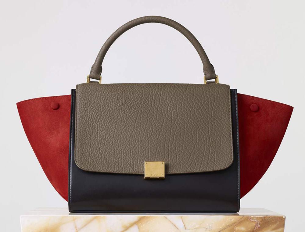 Celine-Medium-Trapeze-Bag-Tricolor