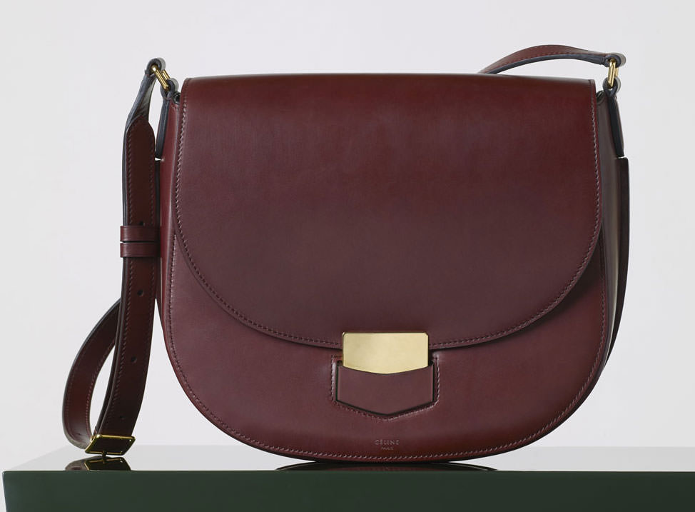 Celine-Medium-Trotteur-Bag-Burgundy