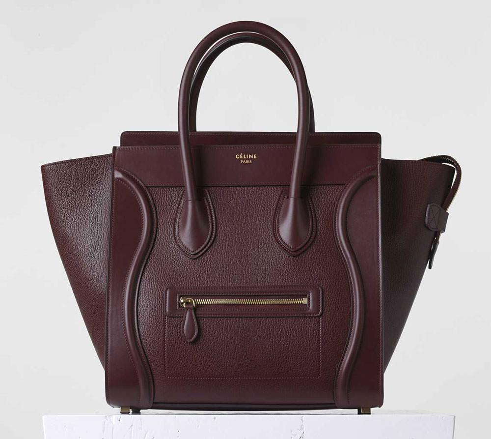 Celine-Mini-Luggage-Tote-Burgundy