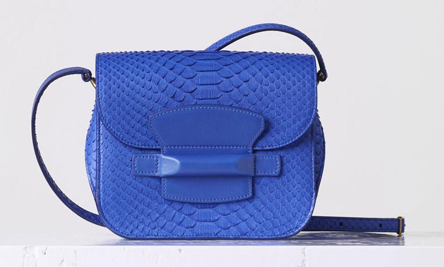 Celine-Small-Python-Tab-Bag-Blue