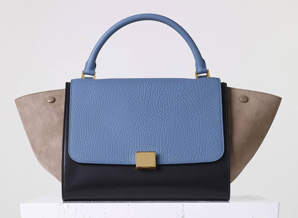 Celine-Tricolor-Medium-Trapeze-Bag