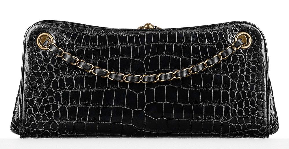 Chanel-Alligator-Kisslock-Frame-Bag