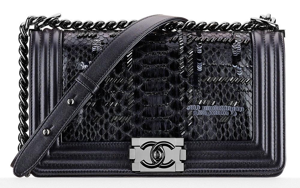 Chanel-Python-and-Sequin-Boy-Bag