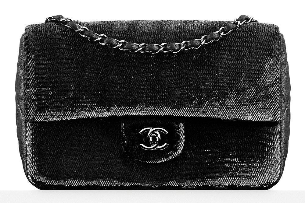Chanel-Sequin-Goatskin-Flap-Bag-Black