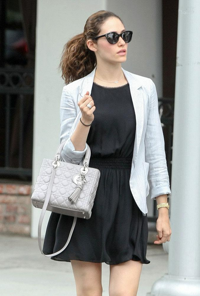 Emmy-Rossum-Christian-Dior-Lady-Dior-Bag