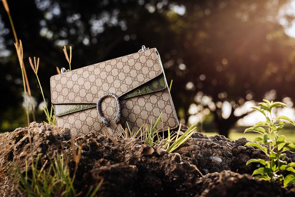 Gucci Dionysus GG Supreme Python Shoulder Bag