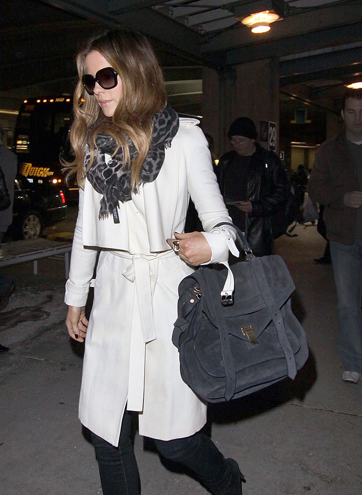 Kate-Beckinsale-Proenza-Schouler-Large-PS1-Suede-Bag