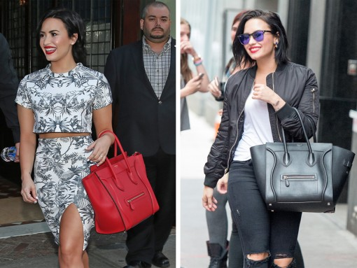 Just Can't Get Enough: Demi Lovato and Her Céline Luggage Totes