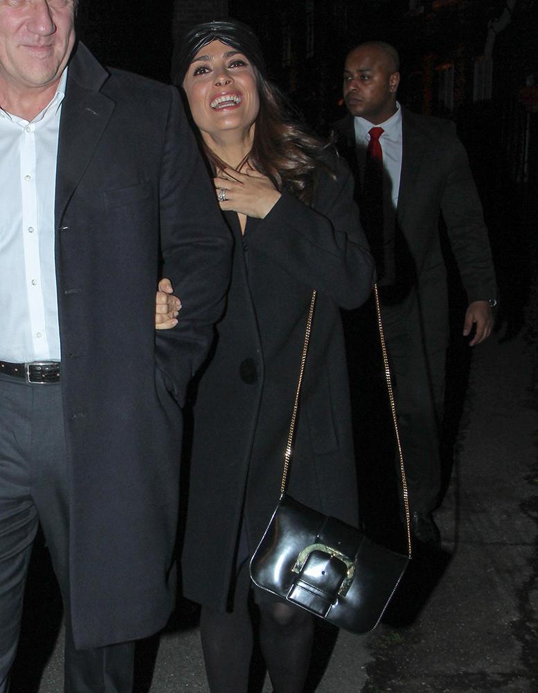 Salma-Hayek-Stella-McCartney-Buckle-Shoulder-Bag
