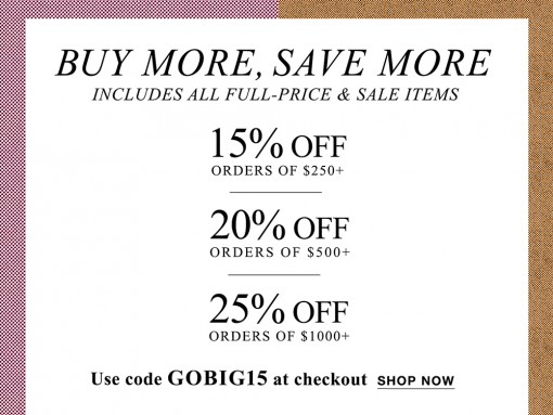 Choose Your Own Discount at the Just-Launched Shopbop Sale!