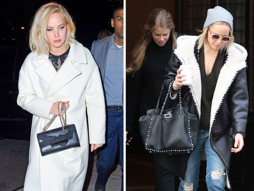 Jennifer Lawrence Has Been Mighty Fond of Her Valentino Bags Lately