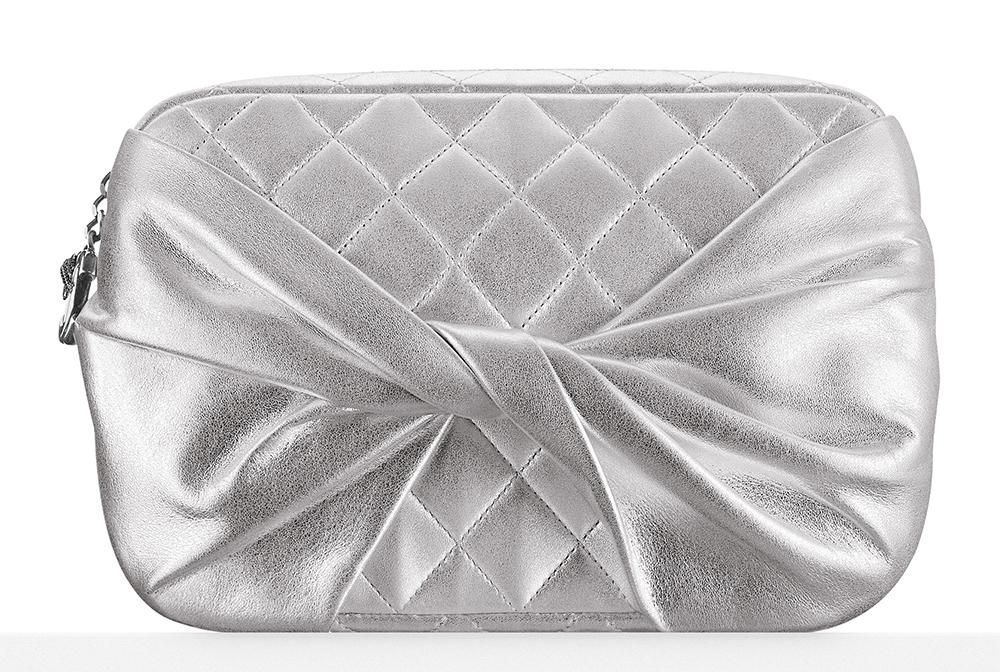 Chanel-Draped-Metallic-Lambskin-Clutch