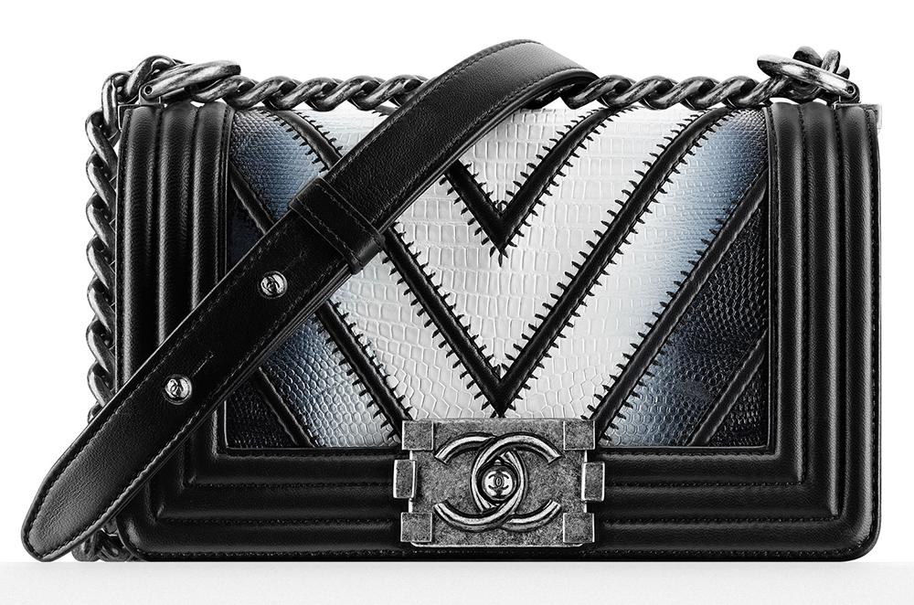 Chanel-Small-Lizard-Boy-Bag-Black