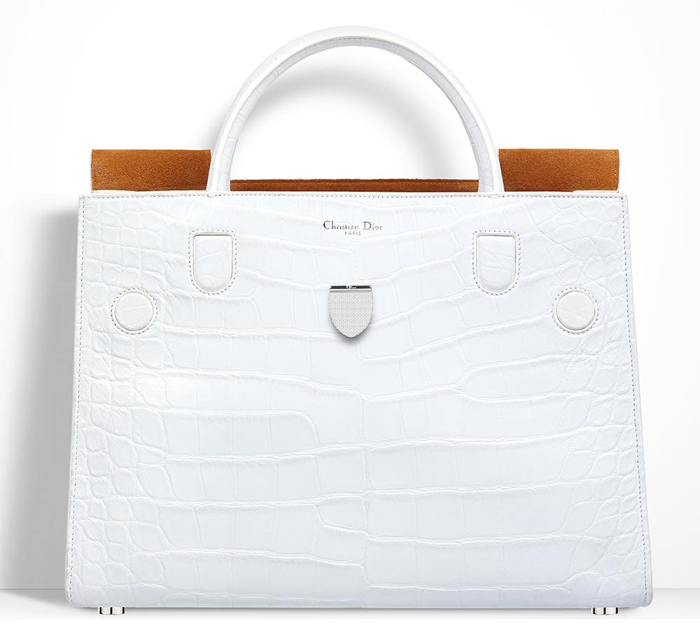 Christian-Dior-Diorever-Alligator-Bag-White