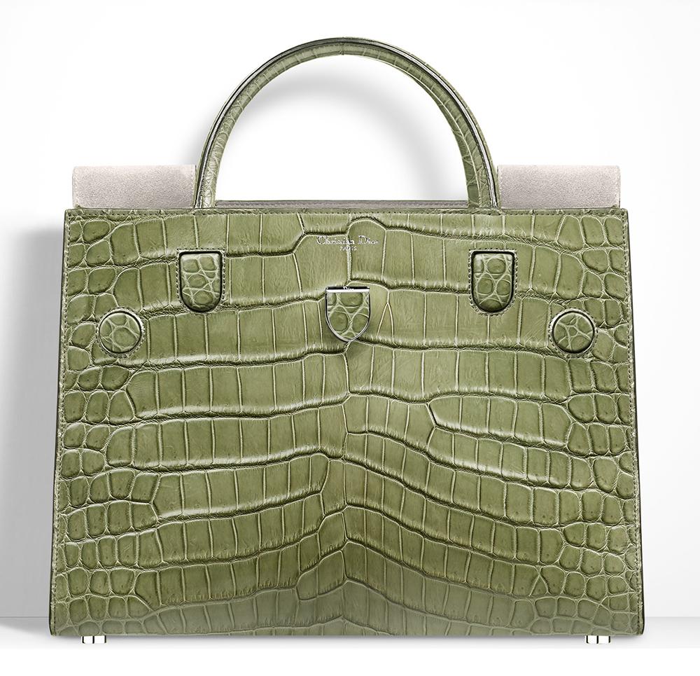 Christian-Dior-Diorever-Crocodile-Bag-Olive-Green