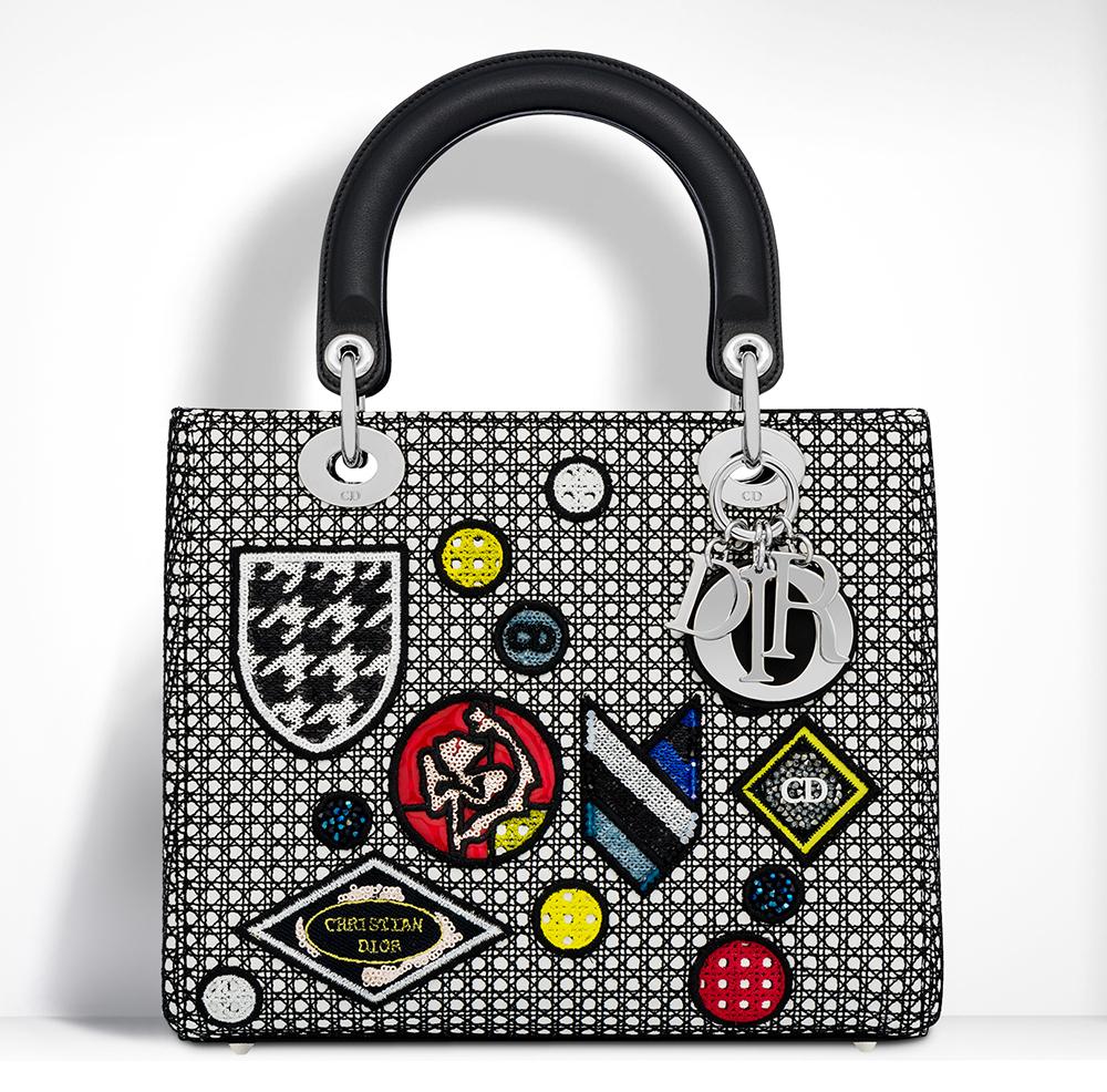 Christian-Dior-Lady-Dior-Badges-Bag