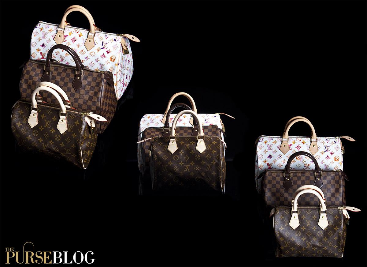 Louis Vuitton Speedy 25, 30 and 35